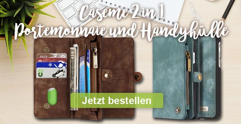 Caseme 2 in 1 Hülle und Portemonnaie