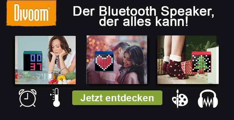 Divoom Bluetooth Lautsprecher - der kompakte Alleskönner
