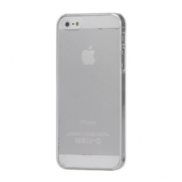 iPhone SE/5S/5 Ultradünnes, mattes Plastik Case - transparent/weiss