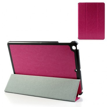 iPad Air Exquisites Smart Leder Case mit zarter Oberfläche - rosa