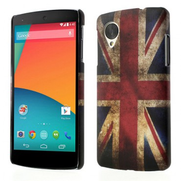 LG Google Nexus 5 Hart Plastik Case UK Grossbritannien Flagge