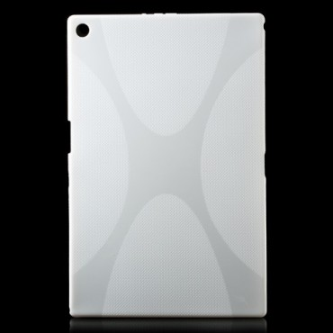 Sony Xperia Z2 Tablet Elastisches Plastik Case X-Shape - weiss