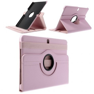 Samsung Galaxy Tab Pro 10.1 (T520/T525) Leder Case mit Litchimuster - pink