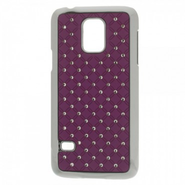 Samsung Galaxy S5 Mini Hart Plastik Case mit Glitzersteinen - purpur