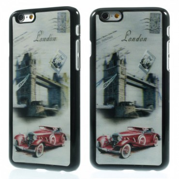iPhone 6/6S Hart Plastik Case mit 3D Big Ben und Retroauto