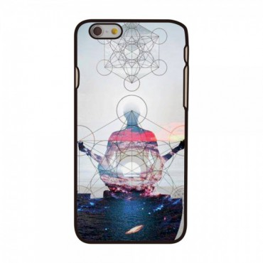 iPhone 6/6S Hart Plastik Case mit Yoga Figur