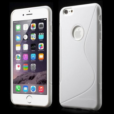iPhone 6 Plus/6S Plus Elastisches Plastik Case S-Line - weiss