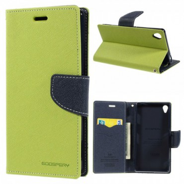 Sony Xperia Z3 Modisches Mercury Leder Case - grün