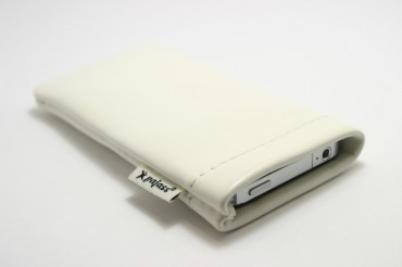 "Sony Xperia Z1 Compact Echtleder Case Pajass Squeeze ""bianco"""