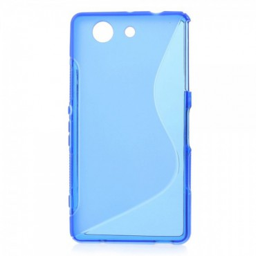Sony Xperia Z3 Compact Elastisches Plastik Case S-Curved - blau
