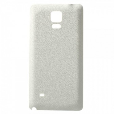 Samsung Galaxy Note 4 Lederartiges Backcover mit Litchimuster - weiss