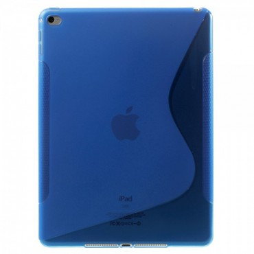 iPad Air 2 Elastisches Plastik Case S-Line - blau