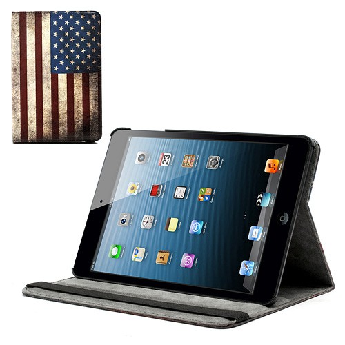 iPad Mini 1/2/3 Amerika Flagge retro Leder Case