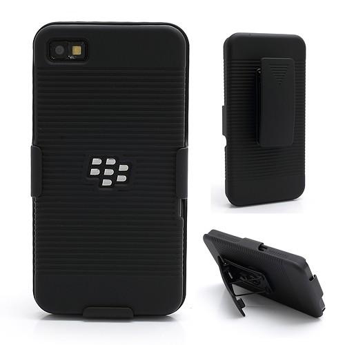 blackberry z10 hart plastik slide case mit gurthalterung schwarz. Black Bedroom Furniture Sets. Home Design Ideas