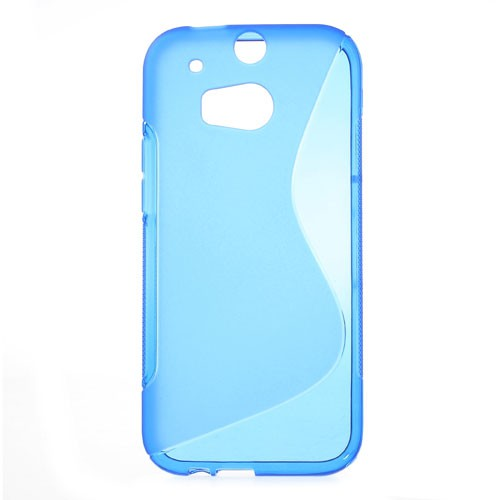 HTC One (M8) Elastisches Plastik Case S-Shape - blau