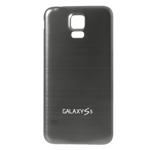 Samsung Galaxy S5 Backcover im Metall-look  - weiss/grau