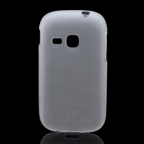 Samsung Galaxy Young Elastisches, mattes Plastik Case - weiss