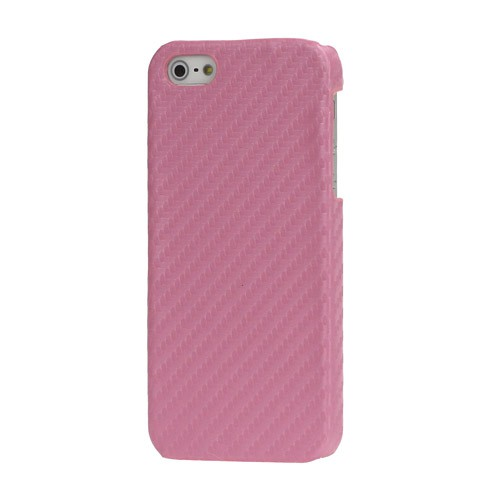 iPhone SE/5S/5 Carbon Hart Plastik Case - pink