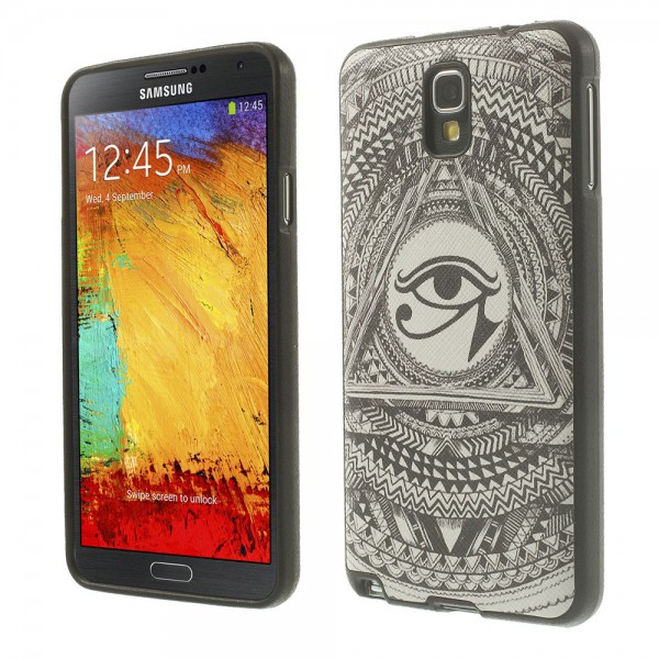 samsung galaxy note 3 lite neo elastisches plastik case mit auge des horus symbol. Black Bedroom Furniture Sets. Home Design Ideas