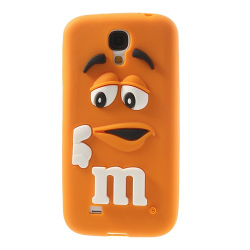 "Samsung Galaxy S4 Silikon Case mit M&M""s Figur - orange"