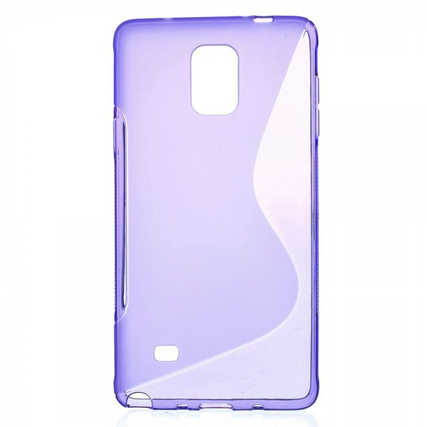 Samsung Galaxy Note 4 Elastisches Plastik Case S-Line - purpur