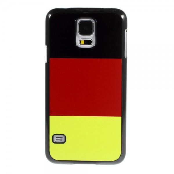 samsung galaxy s5 hart plastik case mit deutschland flagge. Black Bedroom Furniture Sets. Home Design Ideas